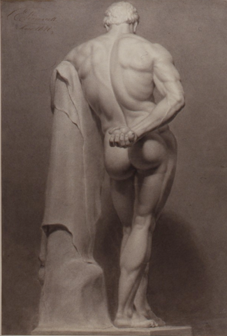 Amalia Lindegren, Herkules Farnese, 1848. ©Konstakademien, foto Göran Petersson.